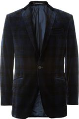 Richard James Hyde Slimfit Plaid Velvet Blazer - Lyst