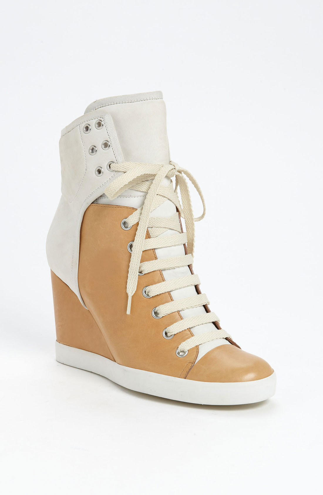 see by chlo high top wedge sneaker in white ivory lyst. Black Bedroom Furniture Sets. Home Design Ideas