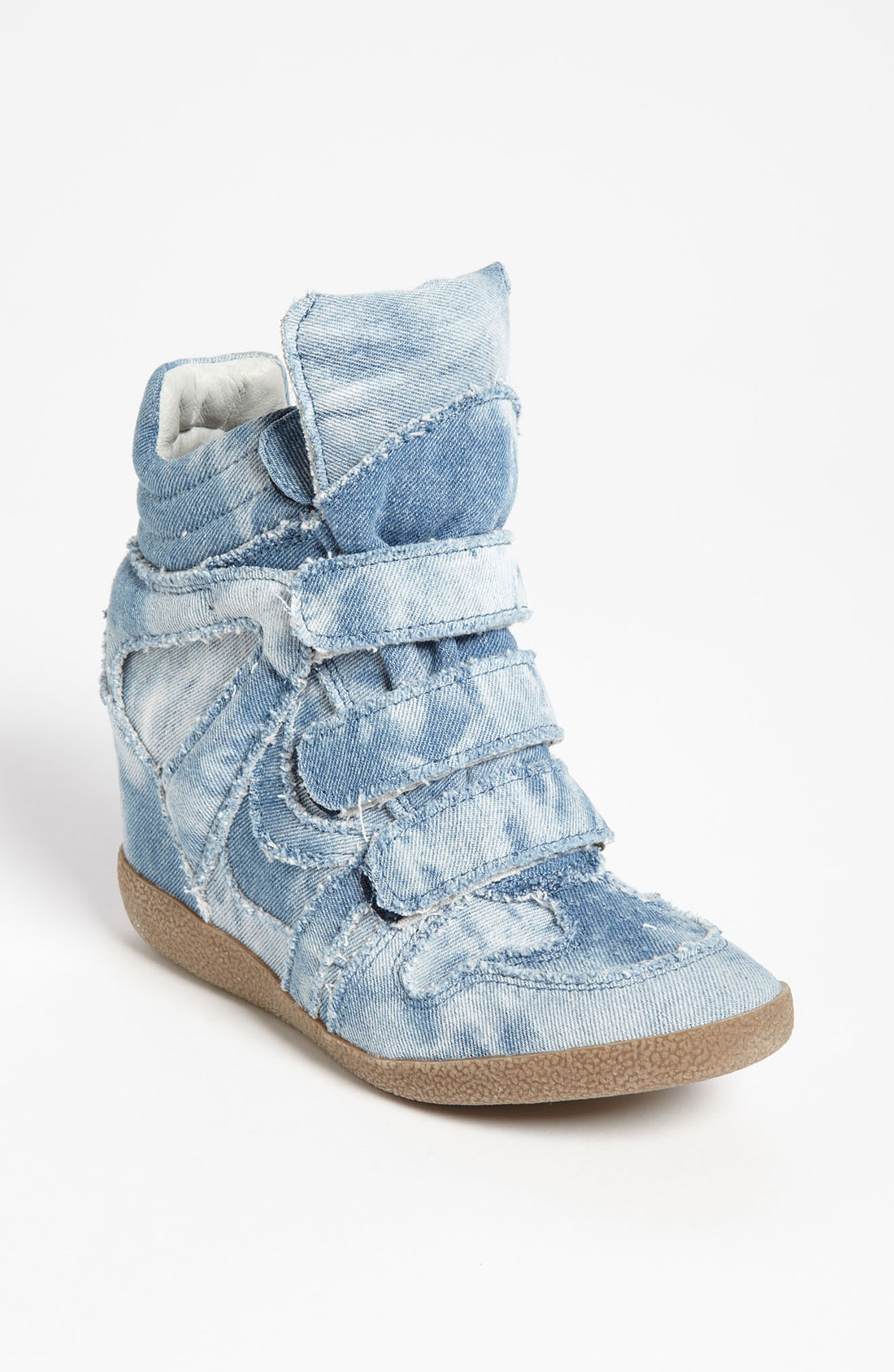Steve Madden Hilitec Wedge Sneaker In Blue Denim Lyst