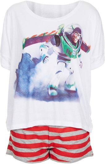 Topshop Buzz Lightyear Tee and Shorts PJ Set - Lyst