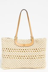 Tory Burch Dawson Large Crocheted Tote - Lyst