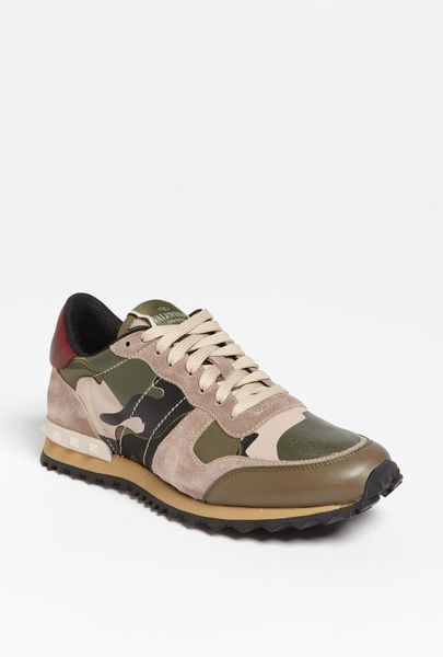 valentino camouflage sneaker in multicolor camouflage lyst. Black Bedroom Furniture Sets. Home Design Ideas