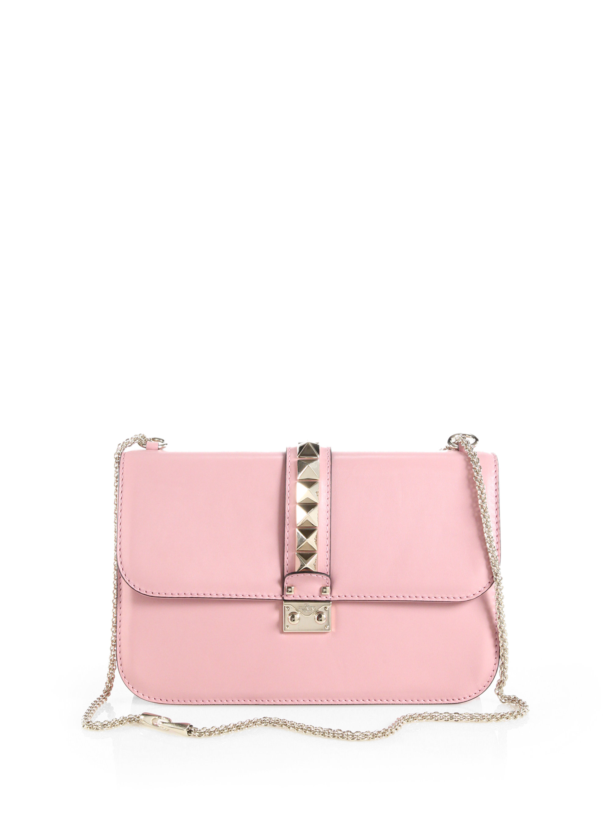 Valentino Rocklock Medium Shoulder Bag in Pink | Lyst