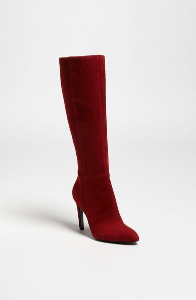 Via Spiga Bethany Boot in Red (red suede) - Lyst