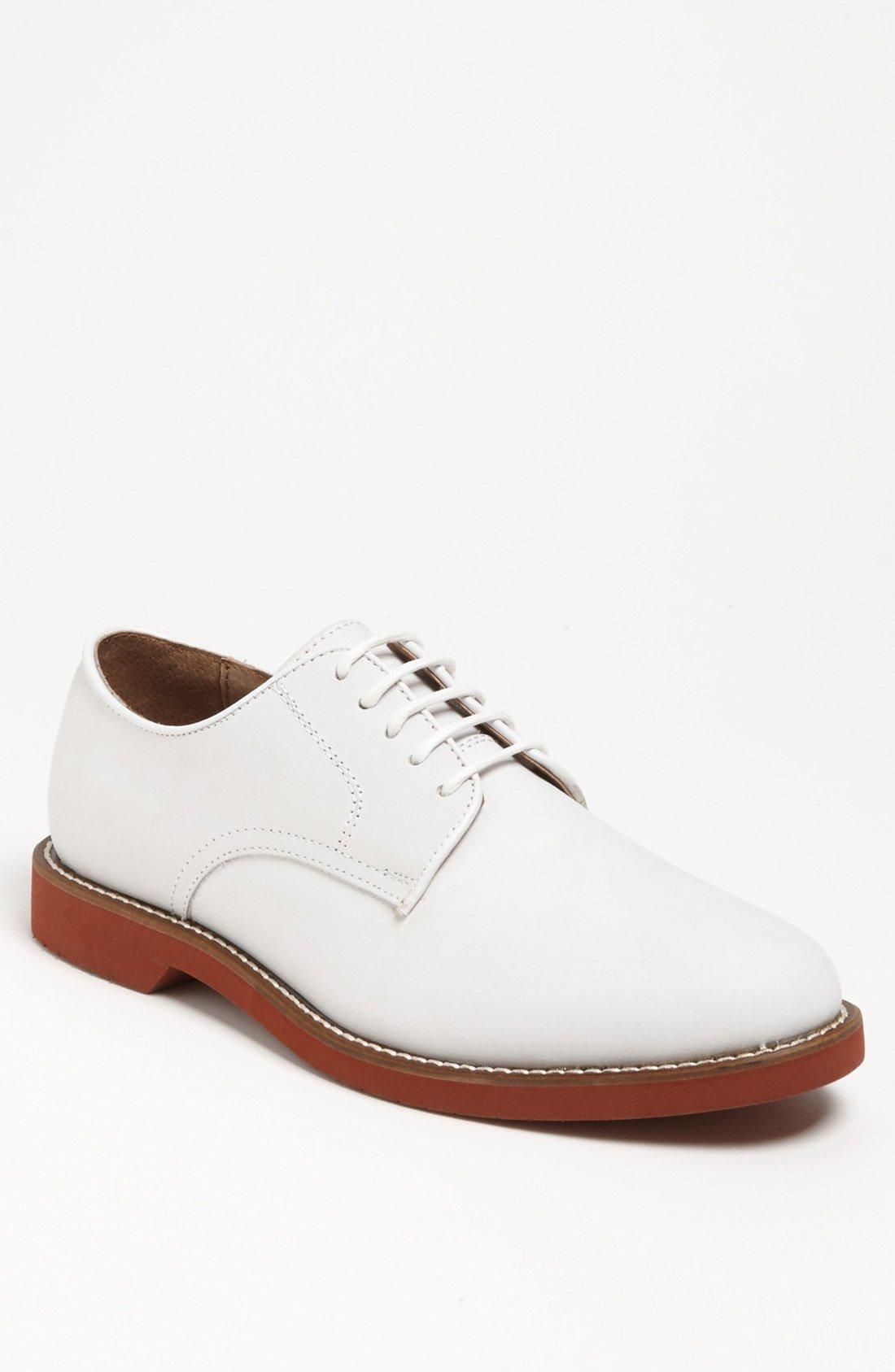 bass buckingham buck shoe in white for lyst