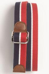 Brooks Brothers Stripe Canvas Belt - Lyst