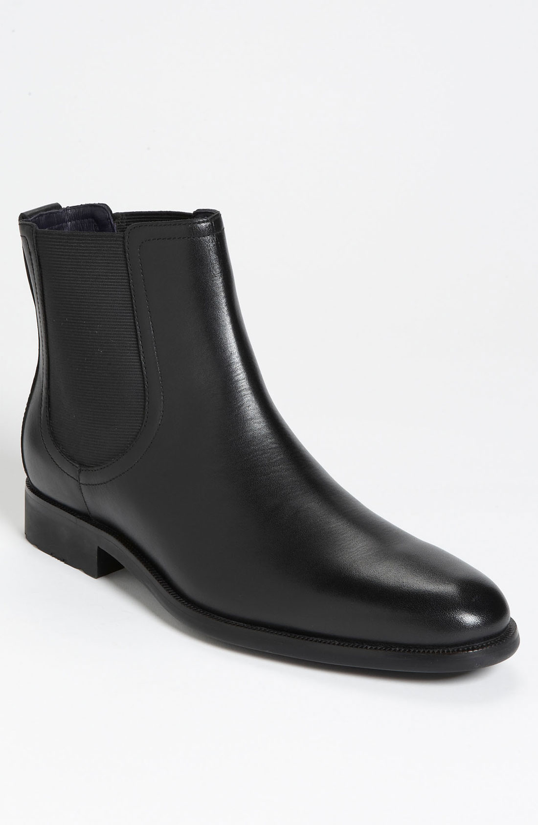 cole haan air stanton chelsea boot in black for black