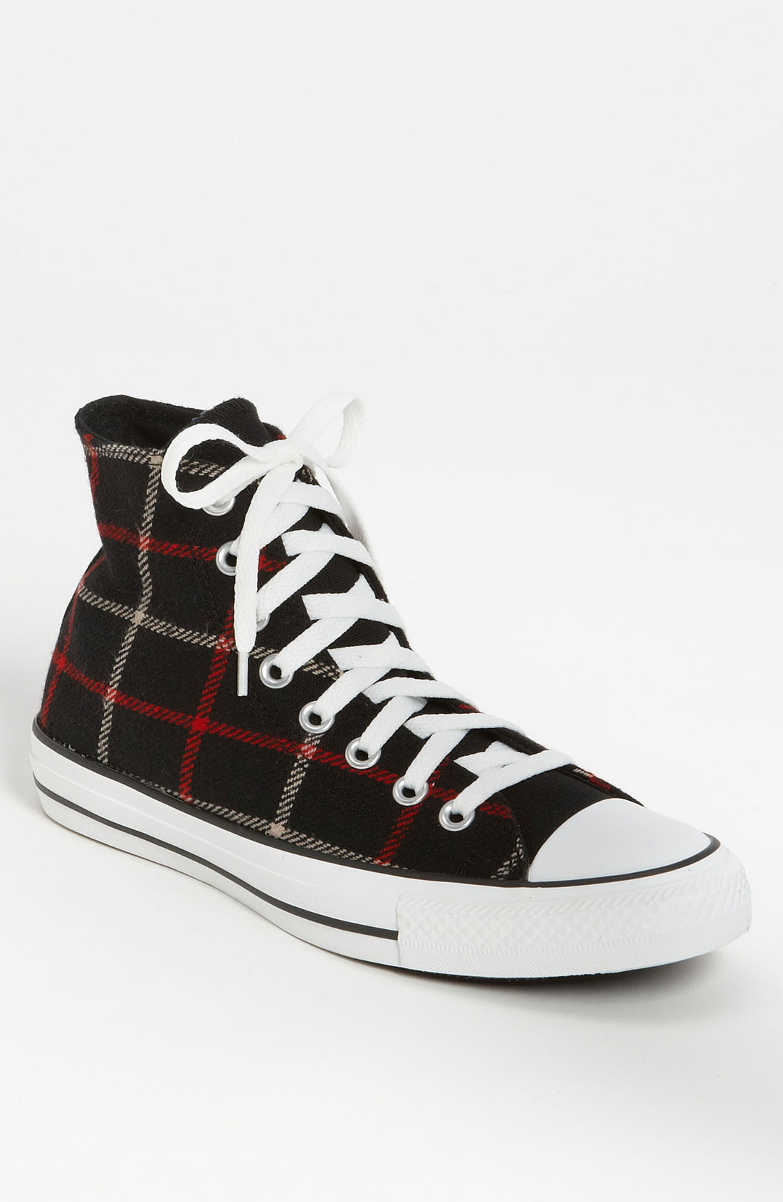 converse plaid high top sneaker in multicolor for black plaid lyst