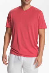 Daniel Buchler V-Neck Silk Blend T-Shirt - Lyst