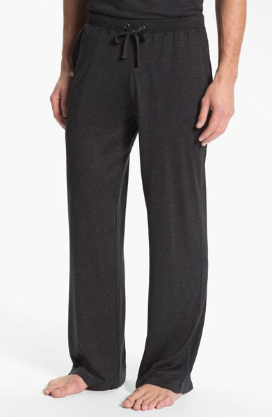 Daniel Buchler Silk Blend Lounge Pants In Gray For Men