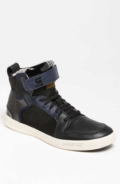 g star raw yard bullion sneaker men in black for men black indigo black lyst. Black Bedroom Furniture Sets. Home Design Ideas