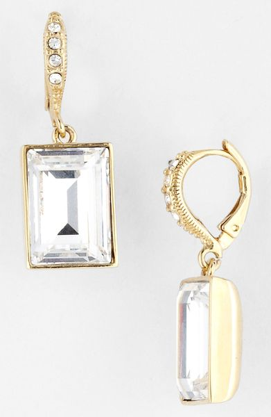 givenchy drop earrings in gold gold clear lyst