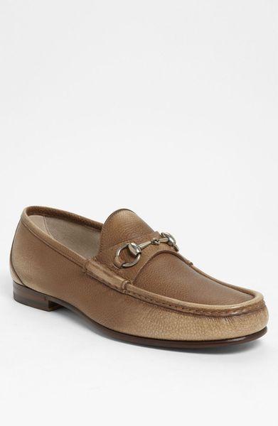 bd867a8f03f Gucci Roos Bit Loafer in Beige for Men (cream  dark brown)