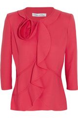 Oscar de la Renta Stretch wool Jersey Jacket
