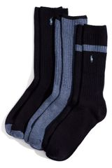 Polo Ralph Lauren Ribbed Socks - Lyst