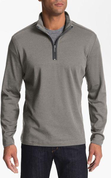 Robert Barakett Connor Half Zip Pullover in Gray for Men (elephant)