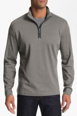 Robert Barakett Connor Half Zip Pullover in Gray for Men (elephant) - Lyst