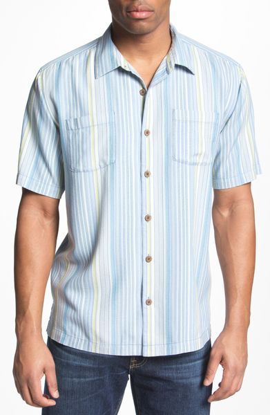 Tommy Bahama Hombre Ole Silk Camp Shirt In White For Men