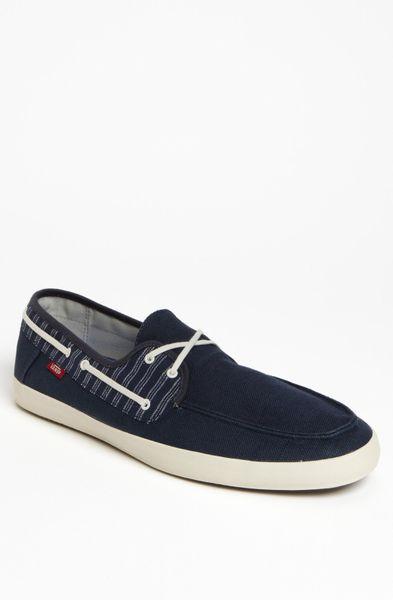 vans chauffeur boat shoe in blue for navy