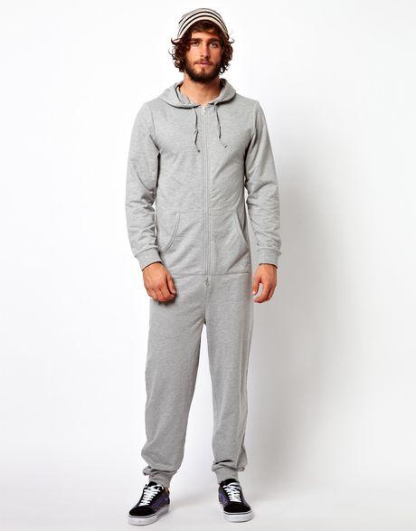 Asos Onesie In Gray For Men Grey Lyst