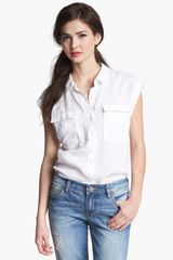 Caslon® Button Front Top - Lyst