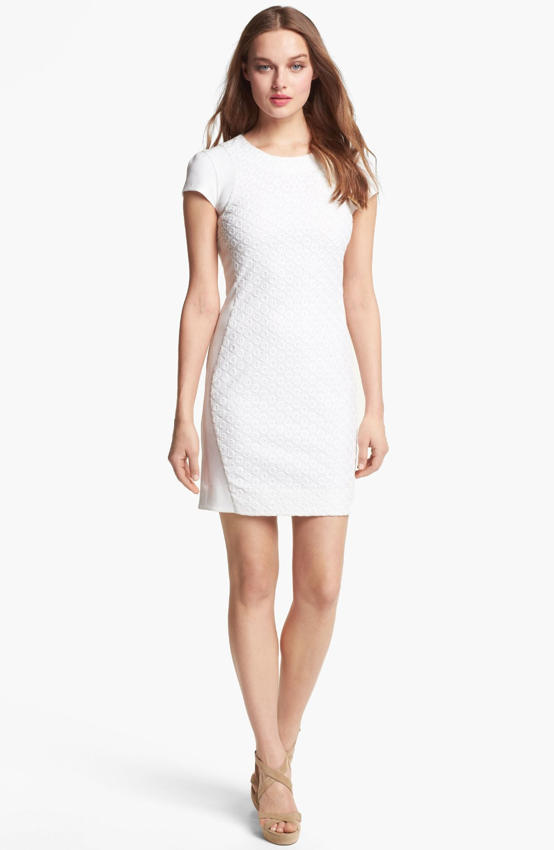 Diane von Furstenberg \'Pele Eyelet\' Knit Sheath Dress ( Size 8) | eBay