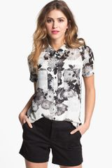 Halogen Short Sleeve Collared Shirt - Lyst