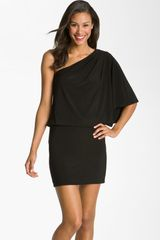 Jessica Simpson One Shoulder Jersey Mini Dress - Lyst