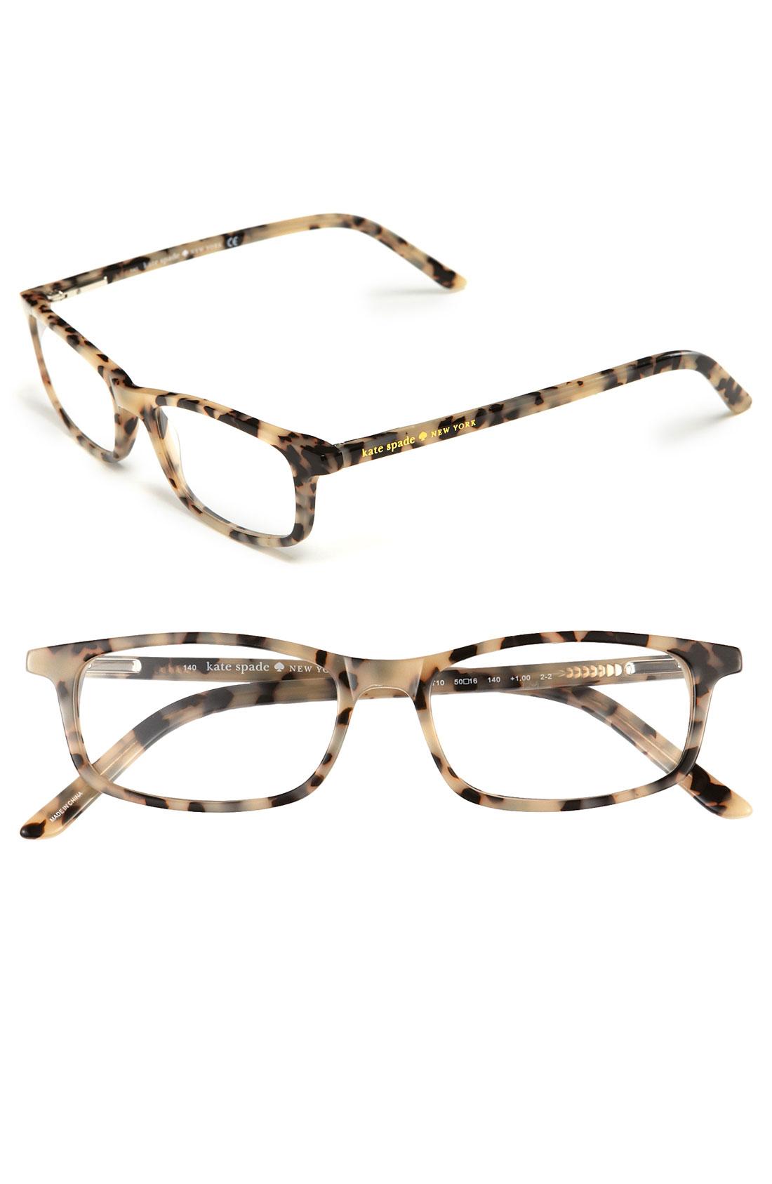Kate Spade Tortoise Shell Eyeglass Frames : Kate Spade Jodie Reading Glasses 2 For 88 in Brown (milky ...