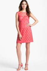 Laundry By Shelli Segal Polka Dot Lace Aline Dress - Lyst