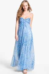 Laundry By Shelli Segal Print Chiffon Gown - Lyst
