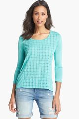 Lucky Brand Ellis Cutout Top - Lyst