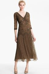 Pisarro Nights Beaded Mesh Dress - Lyst
