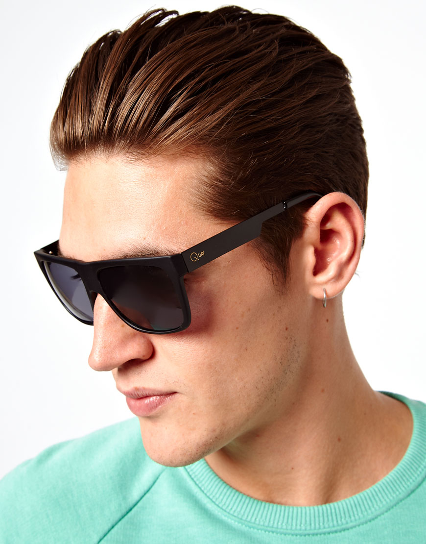 37448a481c Source · Lyst ASOS Quay Eyewear Flatbrow Sunglasses in Black for Men