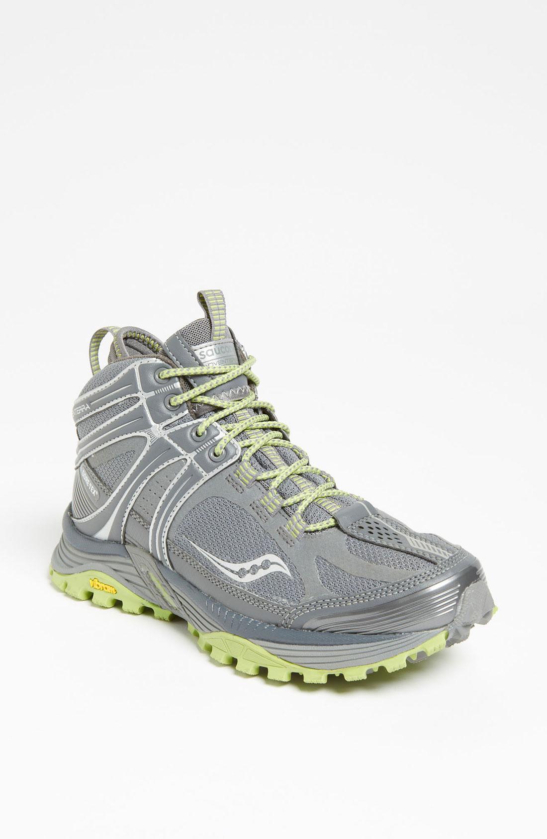 Saucony Progrid Adventerra Gtx Running Shoe Women in Gray (grey/ green