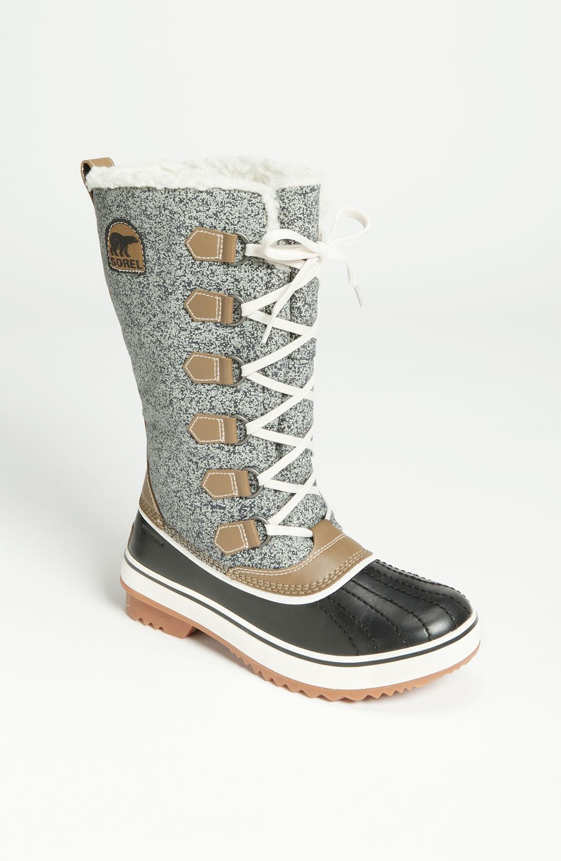 sorel tivoli high waterproof boot in gray black grey lyst
