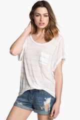 Splendid Shadow Stripe Dolman Tee - Lyst