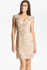 Sue Wong Embellished Illusion Back Sheath Dress - Lyst