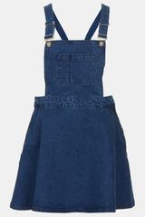 Topshop Moto Annie Denim Dress - Lyst