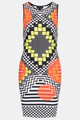 Topshop Africa Block Bodycon Dress - Lyst