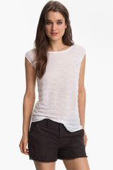 Trouvé Textured Sheer Cap Sleeve Top - Lyst