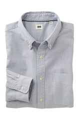 Uniqlo Oxford Long Sleeve Shirt - Lyst