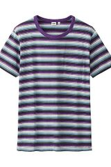 Uniqlo Striped Short Sleeve Tshirt - Lyst