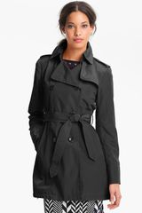 Vince Camuto Heidi Double Breasted Trench Coat - Lyst