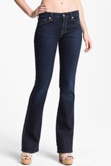 7 For All Mankind Kimmie Bootcut Jeans Slim Illusion Dark Rich Blue - Lyst