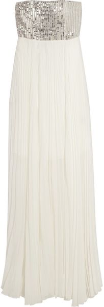 Alice + Olivia Shira Sequinned Silk Chiffon Gown - Lyst