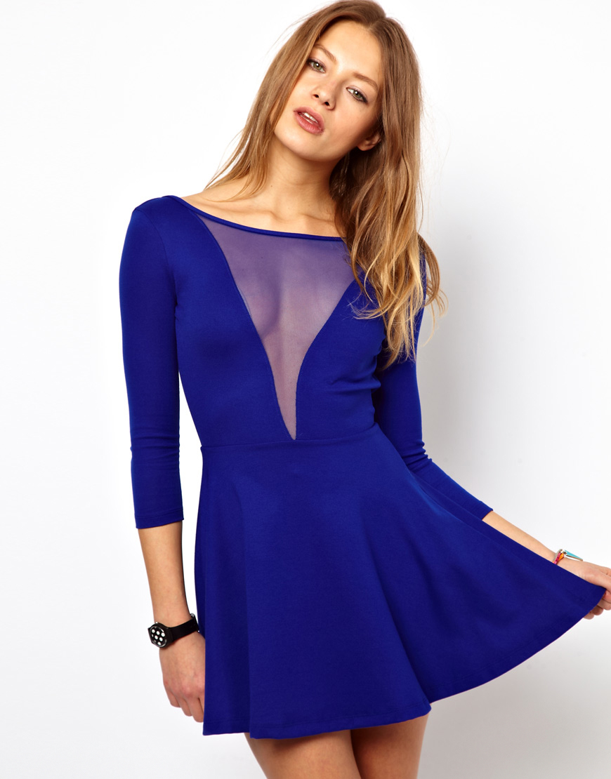 American apparel gloria v skater dress with scoop back in for American apparel mesh shirt