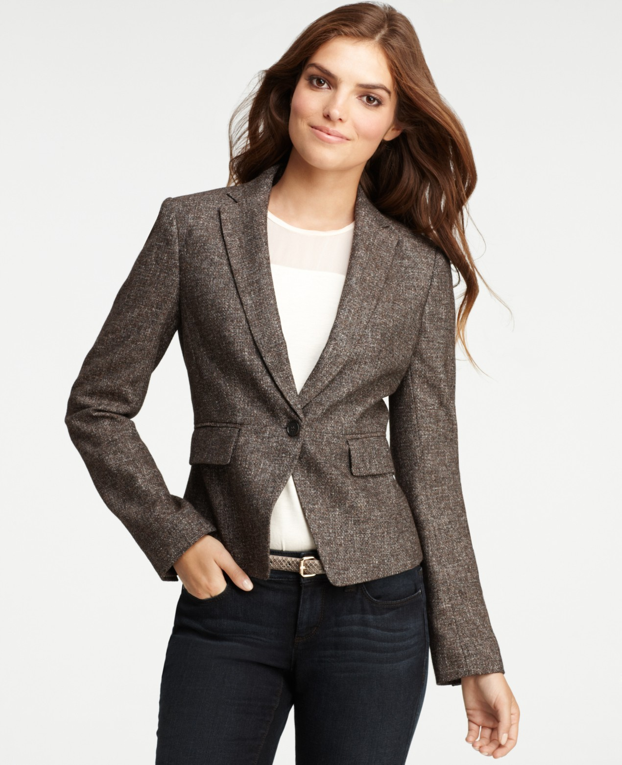 veste blaser femme excellent veste blazer fashion femme paule clout maelysse couleur marron. Black Bedroom Furniture Sets. Home Design Ideas