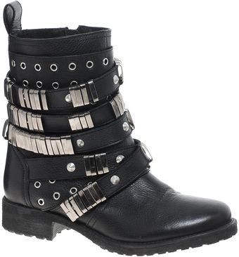Asos Aberdeen Leather Biker Boots - Lyst