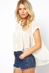 Asos Swing Shirt with Dip Back - Lyst